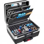 Heavy Duty Tool Case with Pocket Pallets, Pull Handle, Wheels
