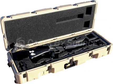 Hardigg Single M16 Rifle With/Without M203 Grenade Launcher Wheeled Case