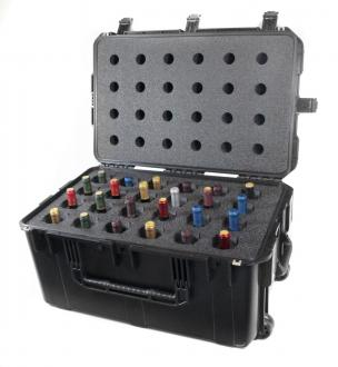 CasePro 24-Bottle Wine Carrier with Wheels