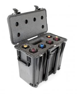 CasePro 6-Bottle Wine Carrier with Wheels