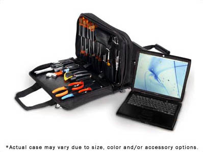 CH Ellis Double Zipper Attache Tool and Laptop Case