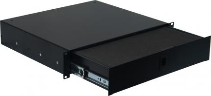 "2U 14.2"" Deep Rack Lockable Drawer with Cubed Foam"