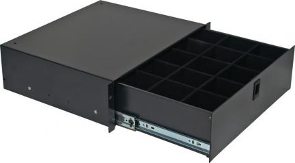 "3U 14.2"" Deep Rack Lockable Drawer with Cubed Foam"