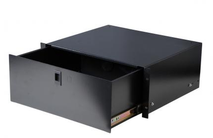 "4U Fully Enclosed Drawer with 2 Rear Access Holes, 14.2"" Deep"