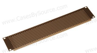 "1.2mm 1U Slotted Panel with 5/32"" Vent Holes"