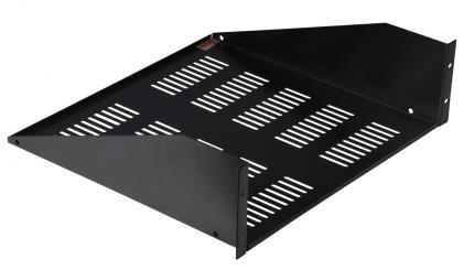 "3U Utility Rack Shelf, 17"" Deep with Vent Holes"