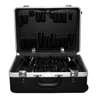 Wheeled Tool Case with 2 Standard Pallets and Layered Foam
