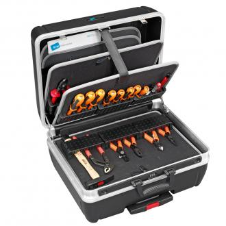 "Heavy Duty 19"" Tool Case with Universal Pallets, Pull Handle, Wheels"