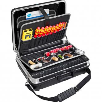 "Heavy Duty 19"" Tool Case with Pocket Pallets, Removable Shoulder Strap"