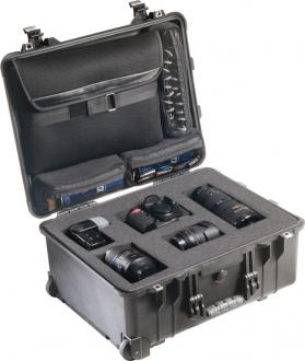 Pelican 1560 Recessed Wheeled Watertight Laptop Overnight Case