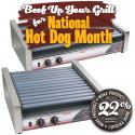 FoodPros Slanted Hot Dog Roller Grill