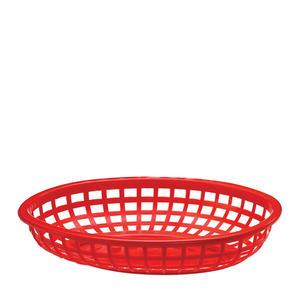 "Classic Oval Basket Red 9 3/8"" x 6"""