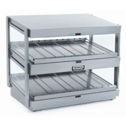 Nemco Dual Shelf Heated Merchandisers -Stainless Steel Powder Coat