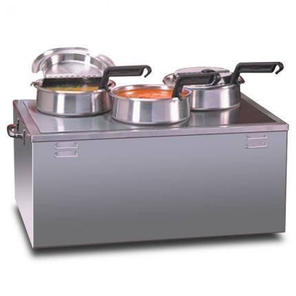 Triple 4qt Warmer with Insets, Covers & Ladles
