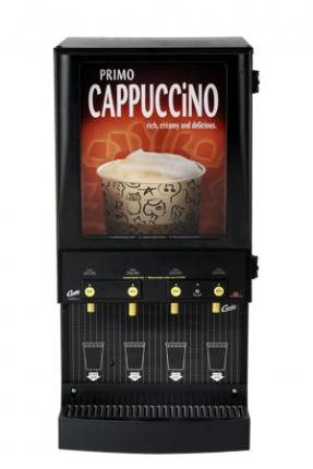 Wilbur Curtis 4 Station Primo Cappuccino Dispenser with Lightbox