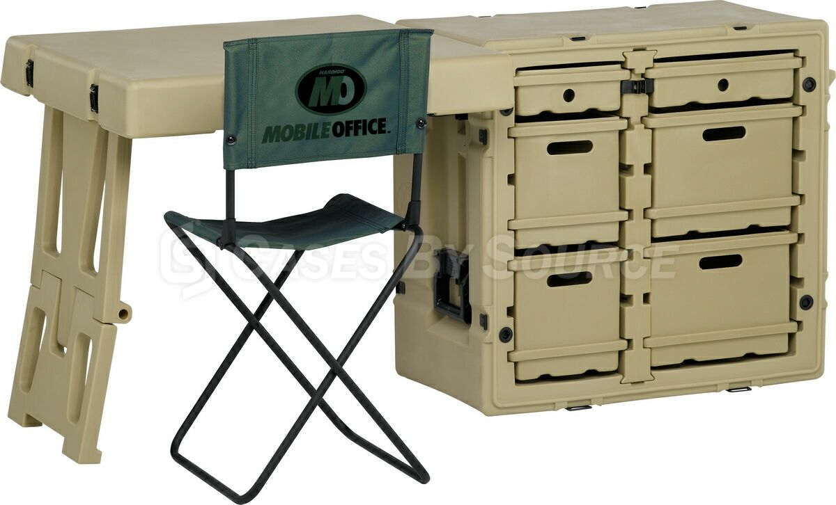 Hardigg Field Desk with Chair - 472-FLD-DESK-TA | Cases By ...