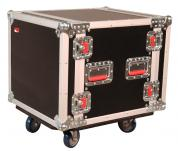 ATA Style 10-Space Rack Road Case with Locking Caster Board