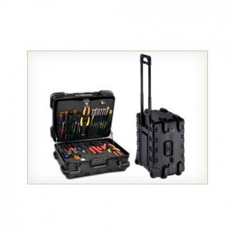 "Chicago Case 9"" Military Ready Black Tool Case with 2 Pallets"