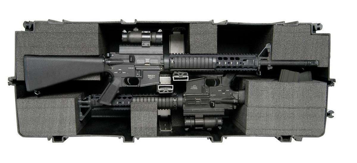 Pelican 1780 Recessed Wheeled Watertight Weapons Case With Hard Liner Insert Pc 1780hl Cases