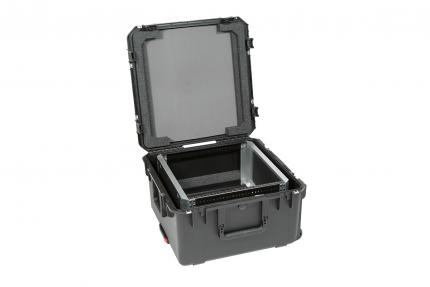 SKB iSeries Case with Removable 10U Shallow Rack Cage, TSA Locks, Wheels
