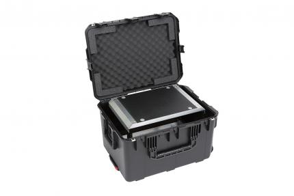 SKB iSeries Case with Removable 6U Rack Cage, TSA Locking Latches, Wheels