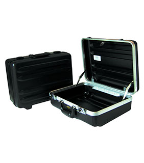 "CH Ellis 6"" Horizontal Ribbed Carrying Case with Aluminum Frame"
