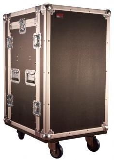 ATA Style Pop-up Console Rack Road Case with 10-Space Top over 12U Bottom