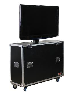 ATA LCD Plasma Screen Case with Electric Lift and Casters: Panels up to 47""