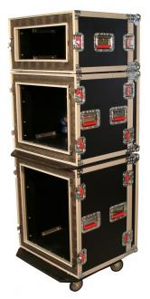 ATA 8U Shock Rack Road Case with Casters