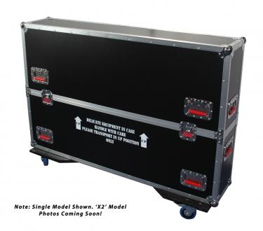 "ATA Road Case with Casters for two 37"" to 43"" LCD/LED/Plasma Screen Monitors"