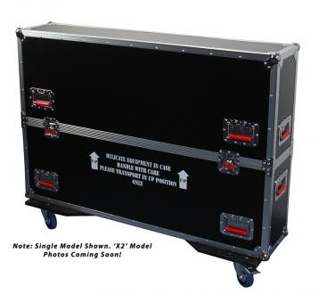 "ATA Road Case with Casters for two 43"" to 50"" LCD/LED/Plasma Screen Monitors"