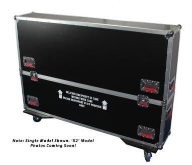 "ATA Road Case with Casters for two 50"" to 55"" LCD/LED/Plasma Screen Monitors"