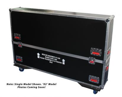 "ATA Road Case with Casters for two 60"" to 65"" LCD/LED/Plasma Screen Monitors"