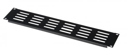 1.2mm 1U Slotted Panel with Elongated Vent Holes