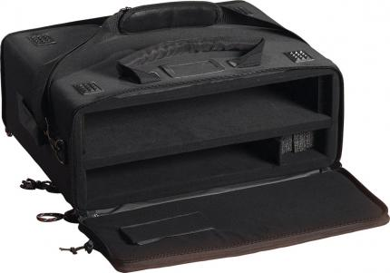 Laptop Computer and 2-Space Audio Rack Bag