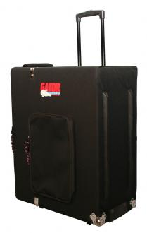 Rigid Soft Cargo Case with Lift-Out Tray, Wheels, and Retractable Handle.