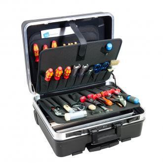 "Heavy Duty 19"" Tool Case with Pocket Pallets, Pull Handle, Wheels"