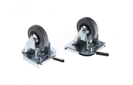 Zarges K-470 Series Casters Kit (2 Fixed / 2 Swivel)