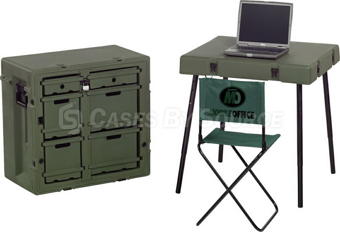 Hardigg Admin Desk with Chair - 472-ADMIN-DESK | Cases By ...