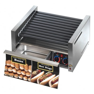 Star SCBD Hot Dog Slanted Roller Grills with Built-In Bun Drawers