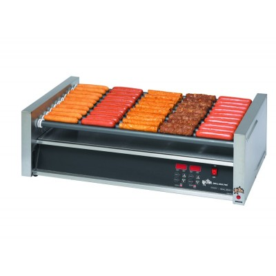 Star Slanted Hot Dog Roller Grills with Electronic Non-Slip Duratec Rollers