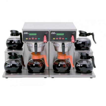 6 Station TWIN Decanter Brewer, 6 Lower Warmers-DU
