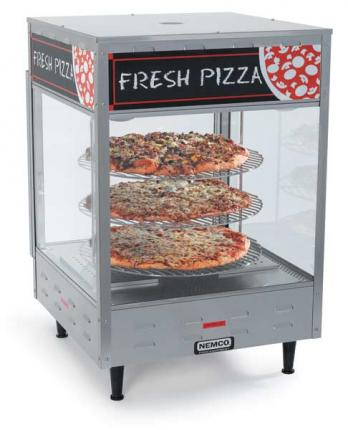 Nemco Rotating Pizza Display Cases