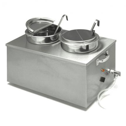 APW Wyott (2) 7 Qt. Insulated Soup Cooker/Warmer with Drain