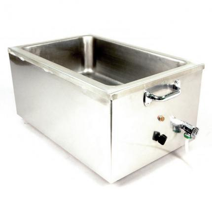 APW Wyott 22qt. Insulated Cooker/Warmer Merchandiser with Drain