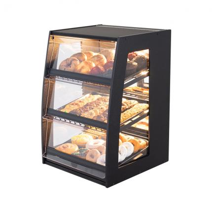 Bakery Case: Narrow Countertop with Mirrored Back & LED Strip Lights