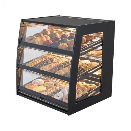 Bakery Case: Wide Countertop with Mirrored Back & LED Strip Lights