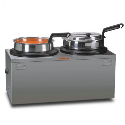 Double 7qt Warmer with Insets, Covers & Ladles