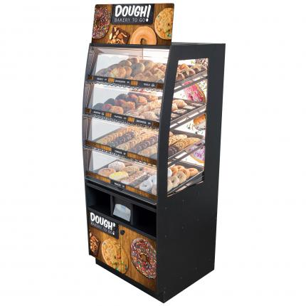 """Dough! Bakery To Go"" Bakery Case: Floor-Standing with Premium LED Back Panel"