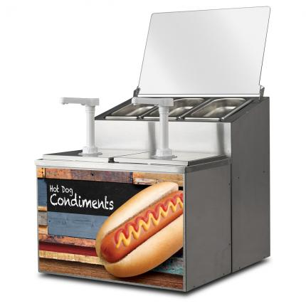 FoodPros 3-Compartment Condiment Unit